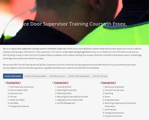 SIA Door Supervisor Training Course in Essex