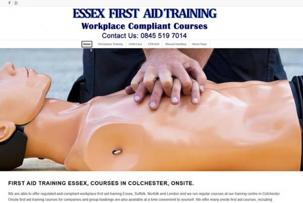First aid training in Essex