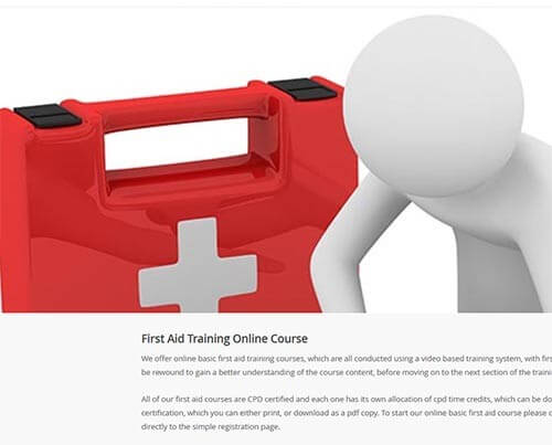 Online CPD certified basic first aid training courses