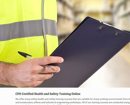 Health and safety training courses online