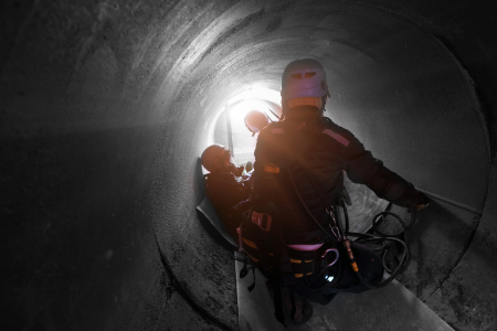 Working in confined spaces, click here to register and start