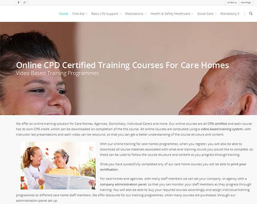 Care Home Training Courses Online
