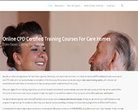 Online care home training courses