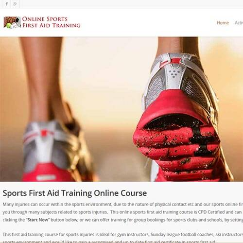 Sports first aid training, online courses