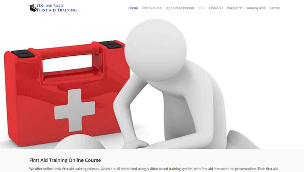 Basic first aid training online courses