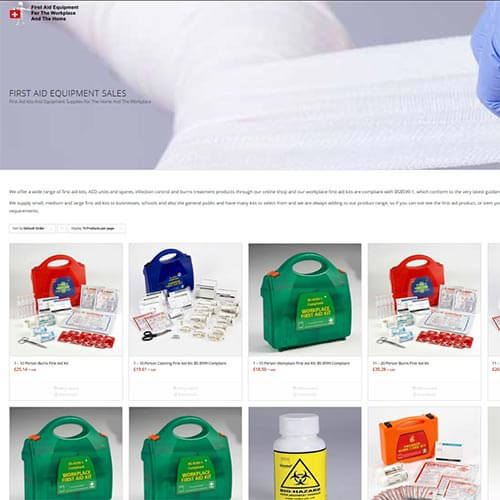 Workplace compliant first aid kits and equipment