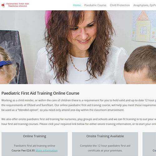 Paediatric first aid training online, cpd certified courses