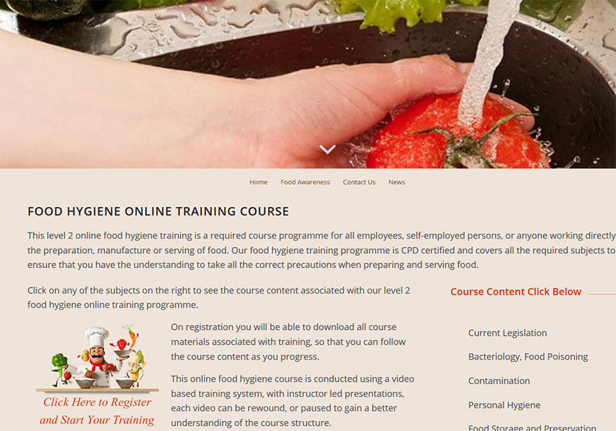 Food Hygiene Online Training Course